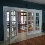 Drzwi łamane harmonijka drewniane wewnętrzne
